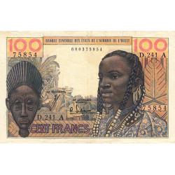 Côte d'Ivoire - Pick 101Af - 100 francs - Série D.241 - 1965 - Etat : TTB-