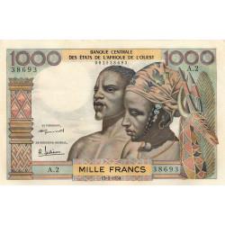 Etats Afrique Ouest - Pick 4 - 1'000 francs - 17/09/1959 - Etat : SPL