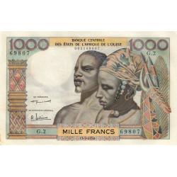 Etats Afrique Ouest - Pick 4 - 1'000 francs - 17/09/1959 - Etat : SUP+