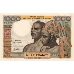 Etats Afrique Ouest - Pick 4 - 1'000 francs - 17/09/1959 - Etat : pr.NEUF