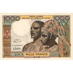 Côte d'Ivoire - Pick 103Ab - 1'000 francs - Série Q.26 -20/03/ 1961 - Etat : pr.NEUF