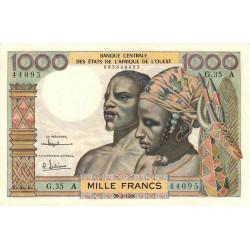 Côte d'Ivoire - Pick 103Ac - 1'000 francs - Série G.35 - 20/03/1961 - Etat : SUP+