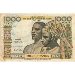 Côte d'Ivoire - Pick 103Ag - 1'000 francs - Série O.79 - 1970 - Etat : TB-