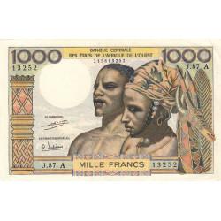 Côte d'Ivoire - Pick 103Ah - 1'000 francs - Série J.87 - 1971 - Etat : SUP