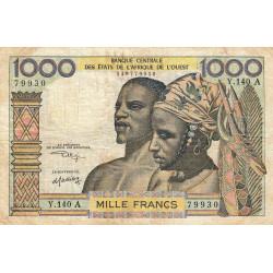 Côte d'Ivoire - Pick 103Ak - 1'000 francs - Série Y.140 - 1975 - Etat : TB-