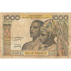 Côte d'Ivoire - Pick 103Al - 1'000 francs - Série H.159 - 1976 - Etat : TB-