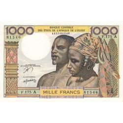 Côte d'Ivoire - Pick 103Am - 1'000 francs - Série F.175 - 1978 - Etat : pr.NEUF