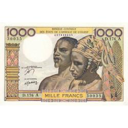 Côte d'Ivoire - Pick 103Am - 1'000 francs - Série D.176 - 1978 - Etat : pr.NEUF