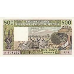 Côte d'Ivoire - Pick 106Aa - 500 francs - 1984 - Etat : NEUF