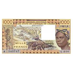 Côte d'Ivoire - Pick 107Af - 1'000 francs - Série L.010 - 1985 - Etat : NEUF