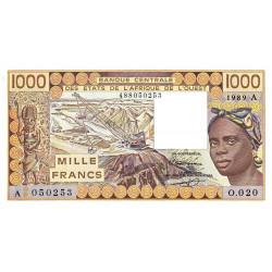 Côte d'Ivoire - Pick 107Ai - 1'000 francs - Série O.020 - 1989 - Etat : NEUF