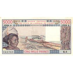 Côte d'Ivoire - Pick 108Al - 5'000 francs - 1984 - Etat : SUP