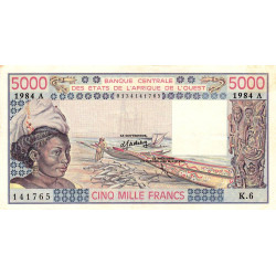 Côte d'Ivoire - Pick 108Al - 5'000 francs - Série K.6 - 1984 - Etat : SUP