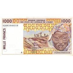 Côte d'Ivoire - Pick 111Ak - 1'000 francs - 2002 - Etat : SUP