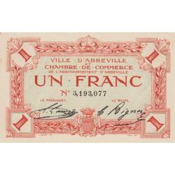 Abbeville - Pirot 1-15b - 1 franc - Sans date - Etat : SPL