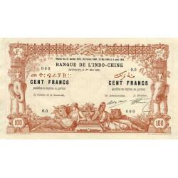 Djibouti - Pick 3 specimen - 100 francs - 1909 - Etat : SUP+