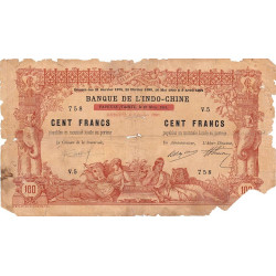 Djibouti - Pick 4 - 100 francs - 02/01/1920 - Etat : B-