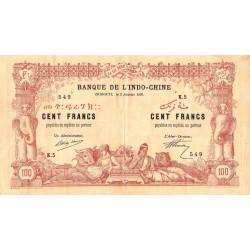 Djibouti - Pick 5 - 100 francs - 02/01/1920 - Etat : TTB+