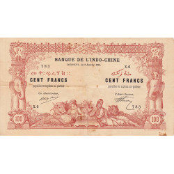 Djibouti - Pick 5 - 100 francs - 02/01/1920 - Etat : TB+
