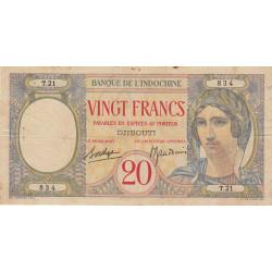 Djibouti - Pick 7A - 20 francs - 1941 - Etat : TB+