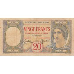 Djibouti - Pick 7A - 20 francs - 1941 - Etat : TB