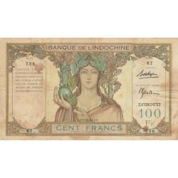 Djibouti - Pick 8 - 100 francs - 1931 - Etat : TB