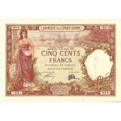 Djibouti - Pick 9a - 500 francs - 20/07/1927 - Etat : SUP