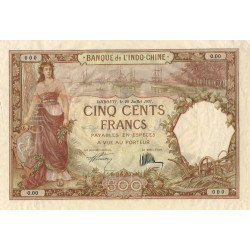 Djibouti - Pick 9a specimen - 500 francs - 1927 - Etat : TTB+