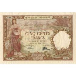 Djibouti - Pick 9a specimen - 500 francs - 20/07/1927 - Etat : TTB+
