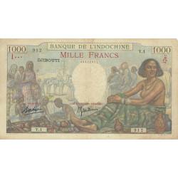 Djibouti - Pick 10 - 1'000 francs - 1938 - Etat : TTB-