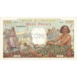 Djibouti - Pick 10 spécimen - 1'000 francs - 1938 - Etat : pr.NEUF
