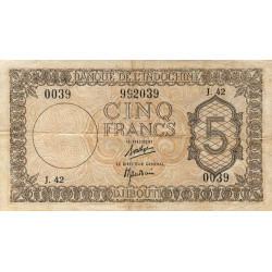Djibouti - Pick 14 - 5 francs - 1944 - Etat : TTB