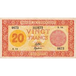 Djibouti - Pick 15 - 20 francs - 1944 - Etat : SUP