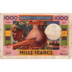 Djibouti - Pick 20 - 1'000 francs - 1946 - Etat : TB-