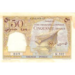 Djibouti - Pick 25 - 50 francs - 1952 - Etat : TTB+