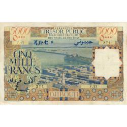 Djibouti - Pick 30 - 5'000 francs - 1969 - Etat : TTB