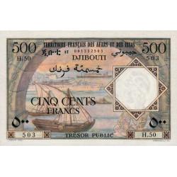 Djibouti - Pick 31 - 500 francs - 1973 - Etat : pr.NEUF