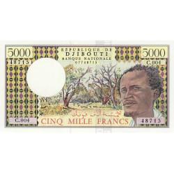 Djibouti - Pick 38d - 5'000 francs - 1995 - Etat : NEUF