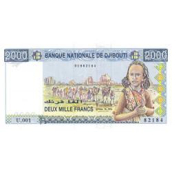 Djibouti - Pick 40 - 2'000 francs - 1997 - Etat : NEUF
