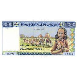 Djibouti - Pick 43 - 2'000 francs - 2005 - Etat : NEUF