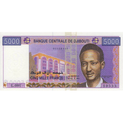 Djibouti - Pick 44 - 5'000 francs - 2002 - Etat : NEUF