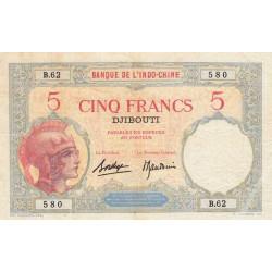 Djibouti - Pick 6b-2 - 5 francs - 1927 - Etat : TTB