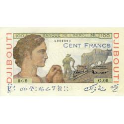 Djibouti - Pick 19A spécimen - 10 francs - 1946 - Etat : SPL