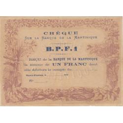 Martinique - Pick 5A - 1 franc - (187.) - Etat : SUP
