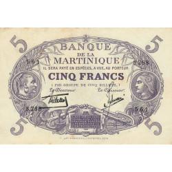 Martinique - Pick 6-2 - 5 francs - 1934 - Etat : SUP