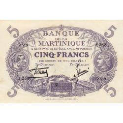 Martinique - Pick 6-2 - 5 francs - 1934 - Etat : SUP+