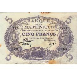 Martinique - Pick 6-2 - 5 francs - 1934 - Etat : TB