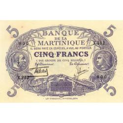 Martinique - Pick 6-2 - 5 francs - 1934 - Etat : SPL