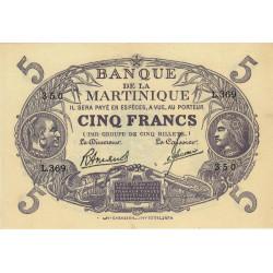 Martinique - Pick 6-3 - 5 francs - 1945 - Etat : SUP+