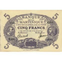 Martinique - Pick 6-3 - 5 francs - 1945 - Etat : TTB+